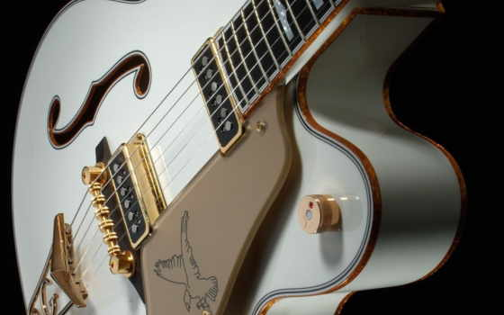 гитара, белая, орёл