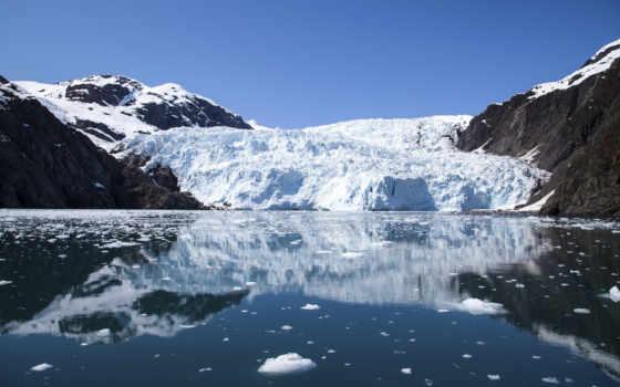 glacier, горы, аляска, bay, park, kenai, fjords,