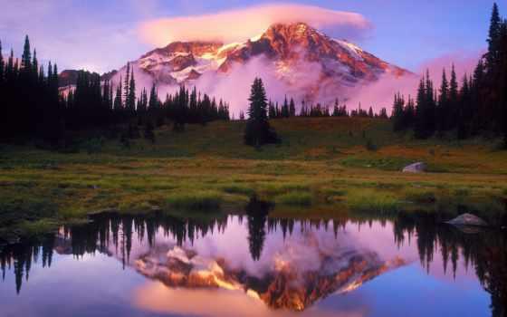 пейзажи -, озеро, горы, горные, латвии, новости, латвийский,