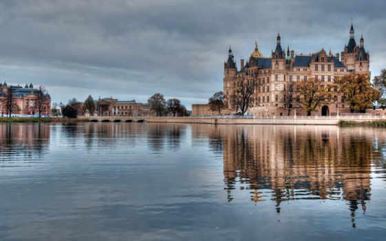 hamburg, german, германия, water, река, здания, замки, architecture,