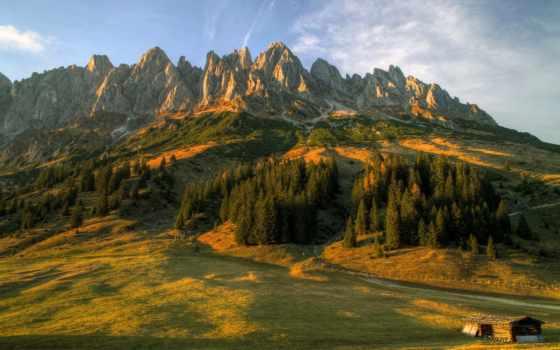 природа, austrian, горы, salzburg, landscape, фотографий, trees, картинку, zoom,