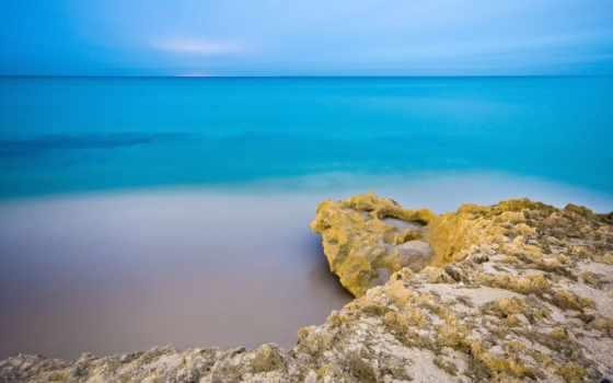 lagoon, голубая, ocean, яркие, захватывающие, bay,