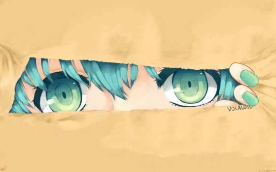 anime, девушка, more, прочитать, hatsune, glaza,