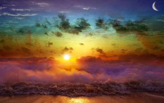 art, desktop, download, beach, rainbow,