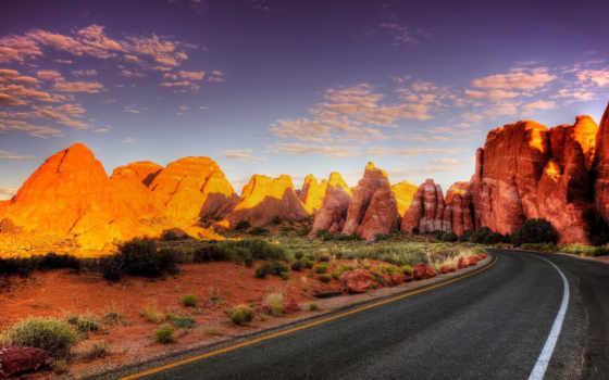 каньон, асфальт, поворот, дорога, гранд, свет, тени, grand, national, солнца,