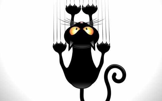 black, вектор, кот, клипарт, разные, кота, eps,