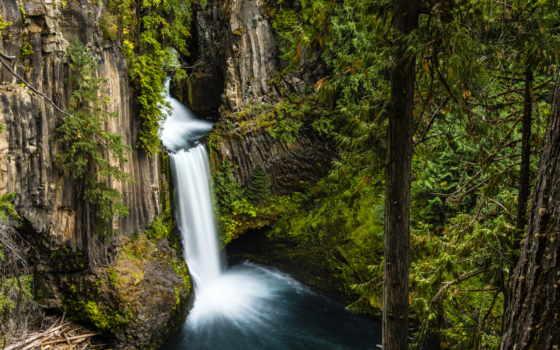 falls, toketee, oregon, водопад, land, природа, заставка