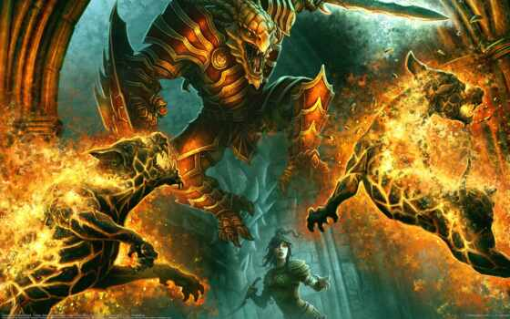 демон, бой, fiery