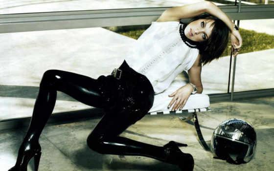 milla, jovovich, мила, русская, модель, шлем, актриса, wallpaperů, black, leather, imagine, pants, сессия,