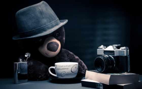 фотоаппарат, изображение, coffee, медведь, cappuccino, desktop, toy, free,