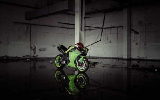 yamaha, yzf, зелёный