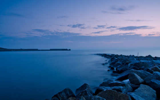 море, ocean, ночь, небо, природа, widescreen, скалы, фон,