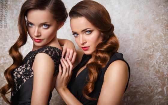 молодой, twins, women, softlens, portrait, stock, images, фото, vegas, las, близнецов,
