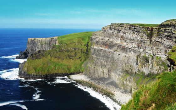 скалы, изображения, природа, cliffs, природных, объектов, коллекция, мохер, ireland,