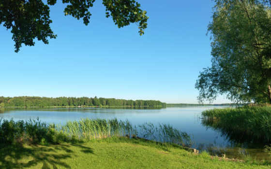 река, summer, природа