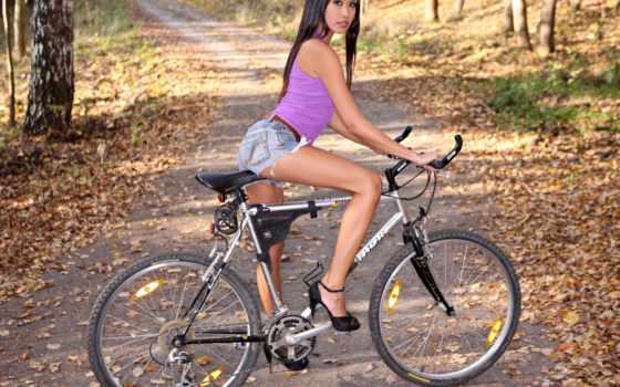 велосипед, devushki, devushka