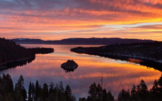 озеро, тахо, калифорния