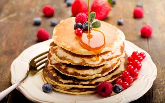 еда, картинка, мед, диета, блины, черника, смородина, блинчики, выпечка,
