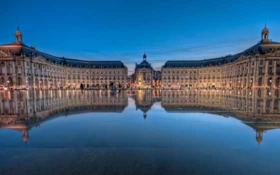 место, bourse, бордоский, french, площадь, франции,