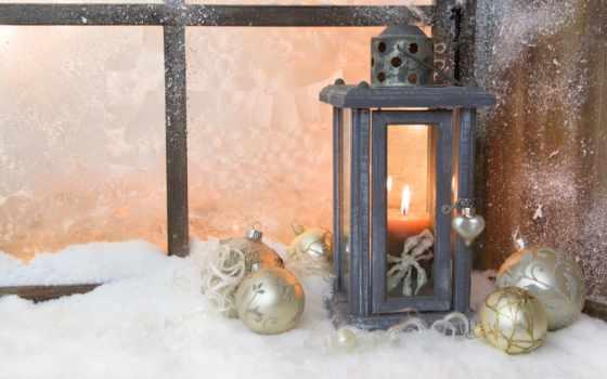 свеча, окно, снег, lantern, winter, год, new, новогодние, окна,