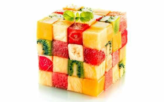 кубик, фрукты, фруктов,