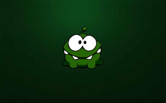 монстрик, глазастый, зелёный, зубастый, чудик, картинка, rope, cut,
