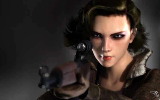 creed, девушка, снайпер