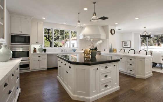 kitchen, белая, design