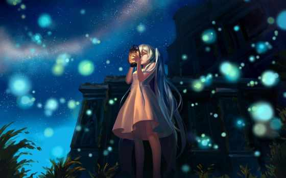 art, ночь, anime