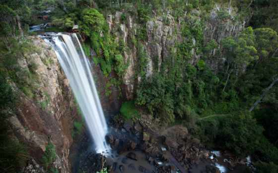 park, national, range, главное, queen, водопад, австралия, brisbane, falls,