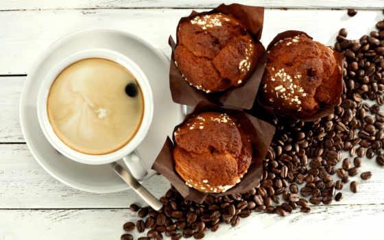 coffee, кексы, торт, купить, cupcake, фотообои, завтрак, десерт, beans, cup,
