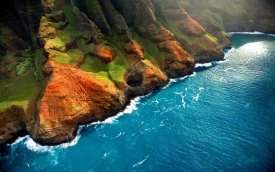 природа, full, картинка, красивые, landscape, красивая, скалы, небо, закат,