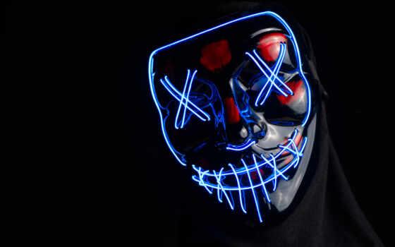 маска, neon, anonymous, cyberpunk, создать, meme
