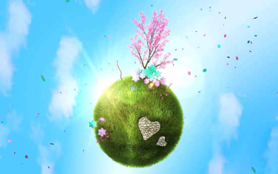 весна, планета Фон № 16687 разрешение 1920x1200