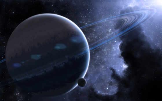 космос, кольца Фон № 24285 разрешение 1680x1050