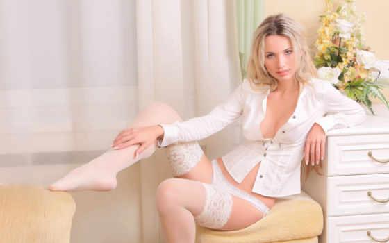 girls, sexy, белое белье