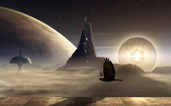 планеты, космос, гладь