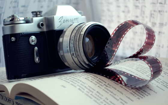 фотоаппарат, сниматься, книга, зенит,