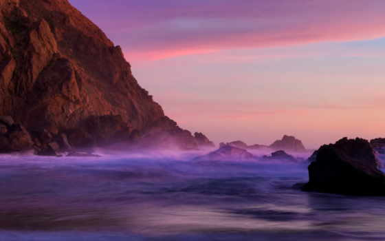 ocean, тихий, закат