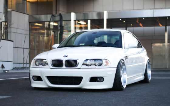 bmw, stance, white