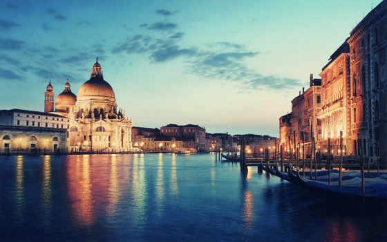 венеции, rialto, venezia, канал, мост, город, italy, моста,