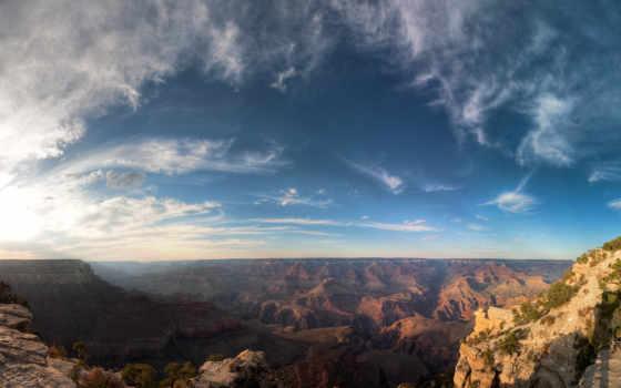 grand, каньон, park, national, скалы, горы, небо,