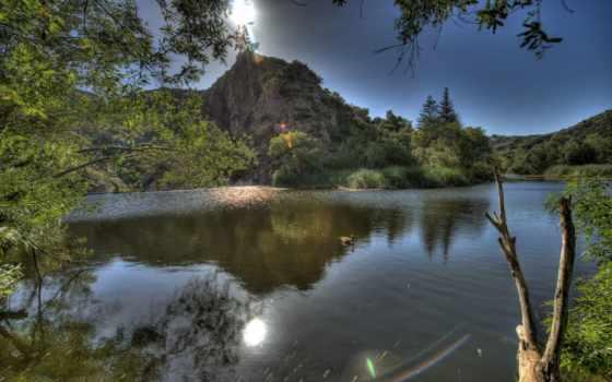 сша, malibu, california, hdr, картинка, природа, река,