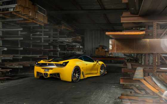 ferrari, italia, yellow, car, pinterest, you,