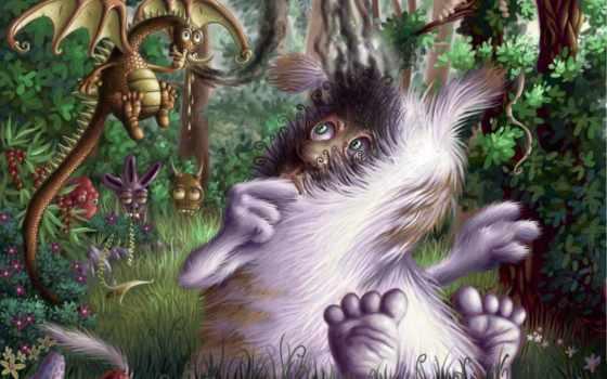 чудеса, фэнтези, дракончик, лес, сказ, fantasy,