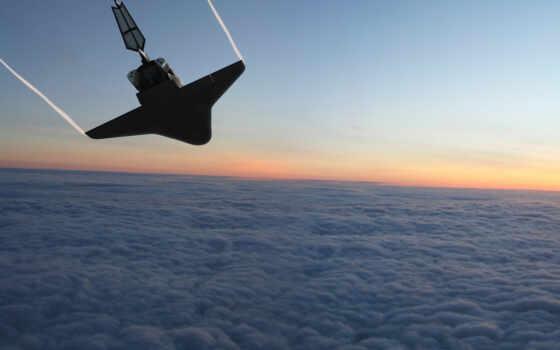 шатл, облака Фон № 24884 разрешение 2560x1600