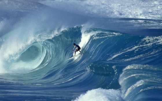 волна, океан, волны, гребне, сёрфинг, вода,