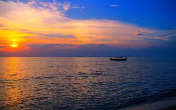 cambodia, пляж, азия, закат, море, лодка, otres,