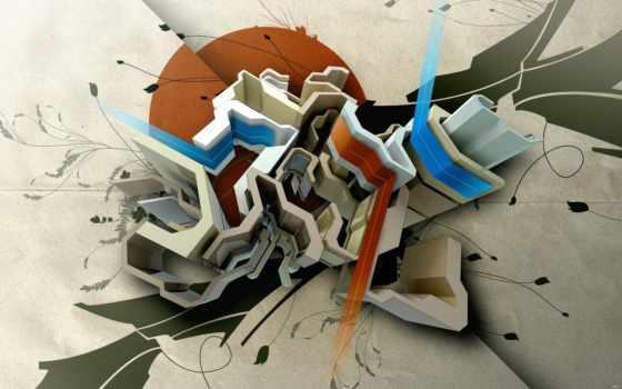 графика, фигуры, абстракция, fusion,