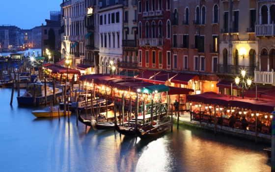город, venice, canal, italian, grand, воде, кафе, venezia,